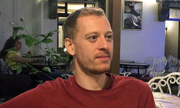 Archivbild von Max Zirngast, der in Ankara inhaftiert ist.