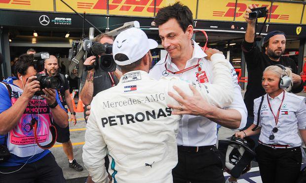 Alphatiere, aber vereint im Streben nach Erfolg: Lewis Hamilton und Mercedes-Teamchef Toto Wolff.