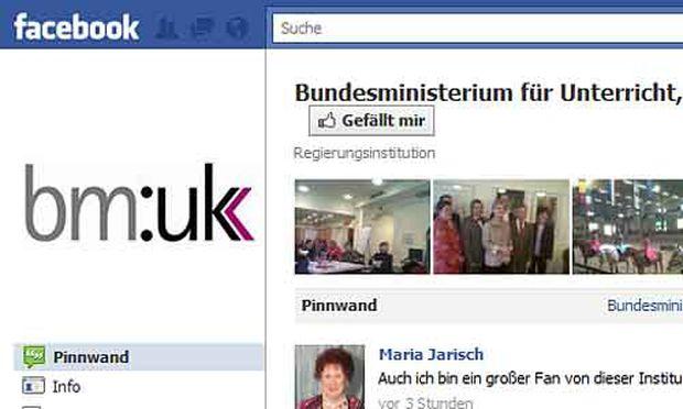 Ministerin Claudia Schmied Facebook