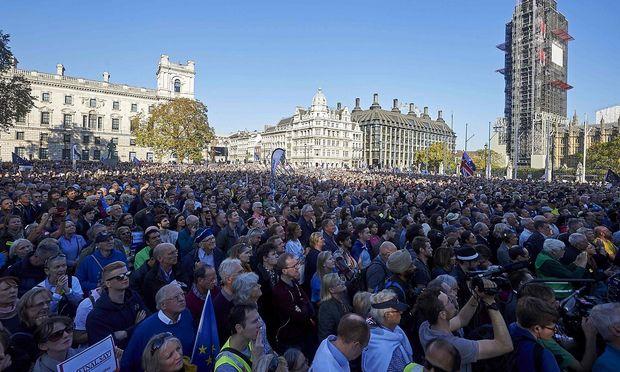 Ein Menschenmeer aus EU-Befürwortern versammelte sich in London.