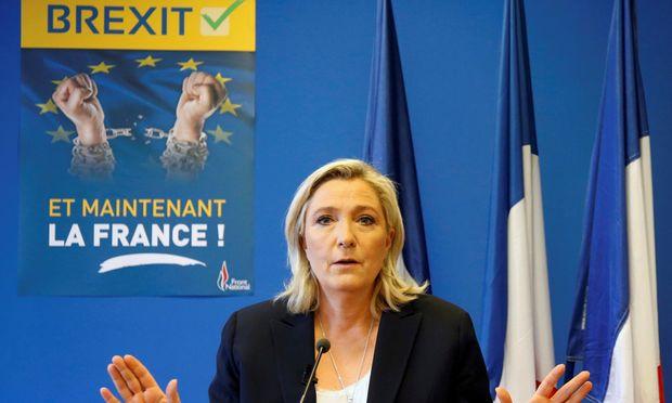 """""""Und jetzt Frankreich!"""": Front-National-Chefin Le Pen sieht sich durch das Brexit-Votum bestärkt."""
