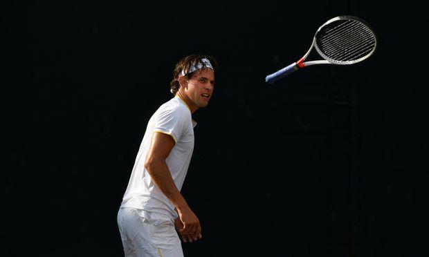 Dominic Thiem schied im Achtelfinale von Wimbledon aus.