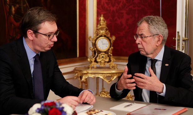 Treffen in Wien. Serbiens Präsident Vučić bei Bundespräsident Van der Bellen.