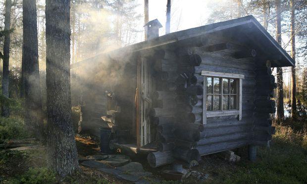 Eine rurale Sauna.