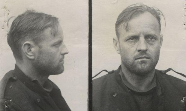 Franz Murer beim Prozess in Wilna nach Kriegsende.
