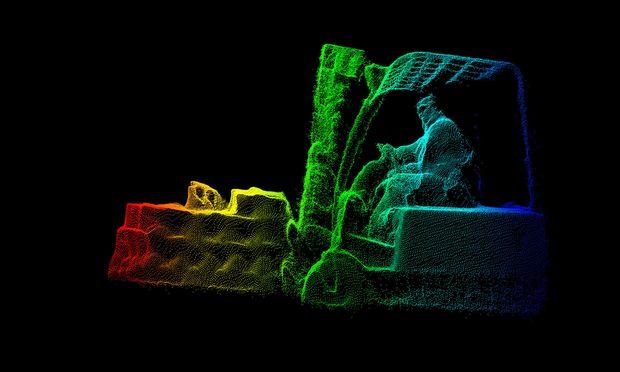 3-D-Visualisierung beim Frachtvermesser Cargometer, einem Wiener Logistik-Start-up.
