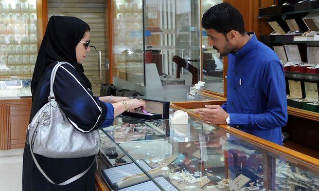 Ein Juwelier in Saudiarabien.