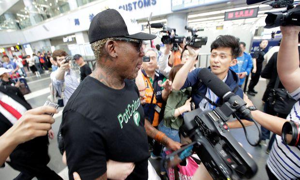 Ex-Basketballprofi Rodman wieder auf dem Weg nach Nordkorea [0:37]