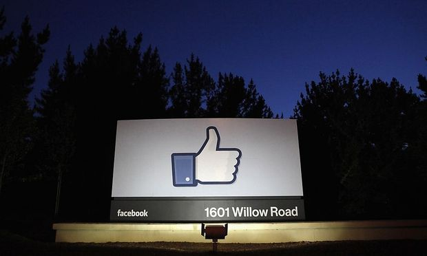 File photo of the Facebook entrance sign in Menlo Park