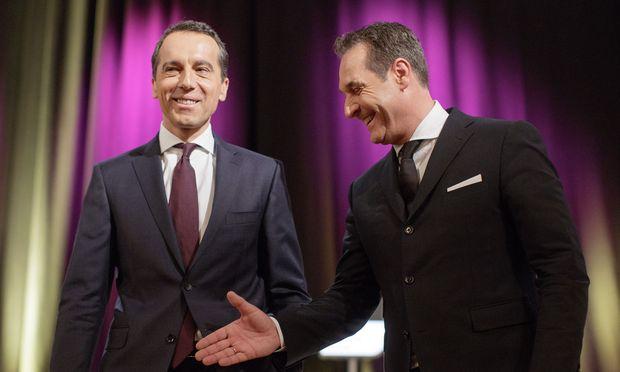 Heinz-Christian Strache (rechts), nach der Wahl neben Christian Kern auf der Regierungsbank? / Bild: (c) APA/GEORG HOCHMUTH
