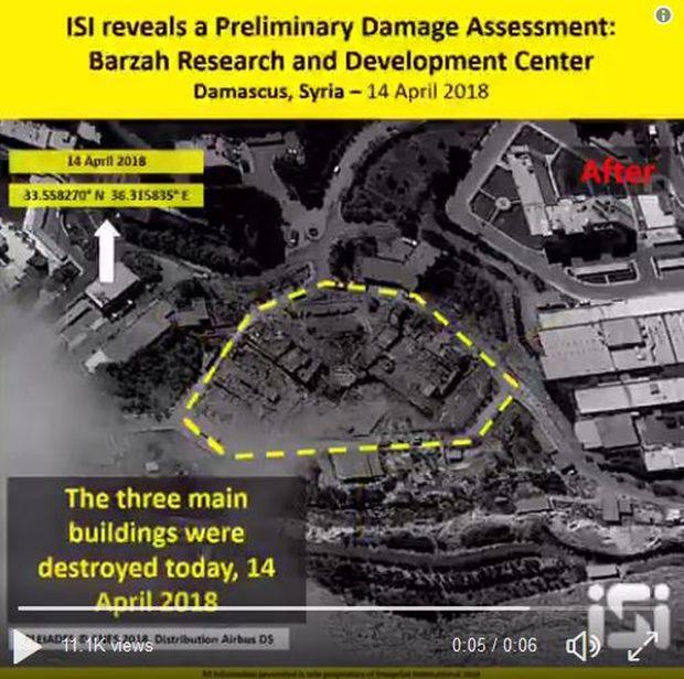 Zustand am 14. April nach dem Bombardement