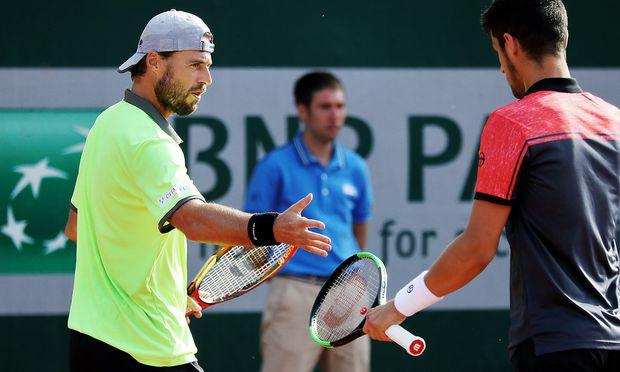 Archivbild. Oliver Marach (li.) mit Mate Pavic bei den French Open.