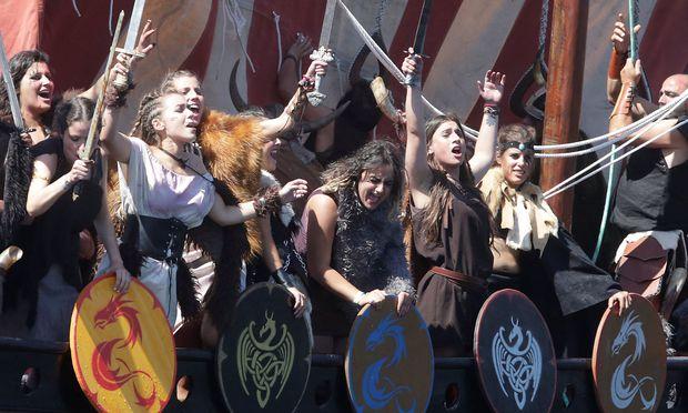 Wikinger-Festival in Catoira, Spanien