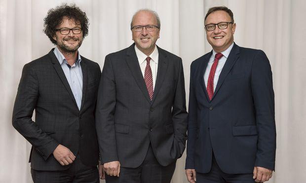 Der erfolgreiche IKB-Vorstand: Thomas Pühringer, Helmuth Müller und Thomas Gasser (v.l.).