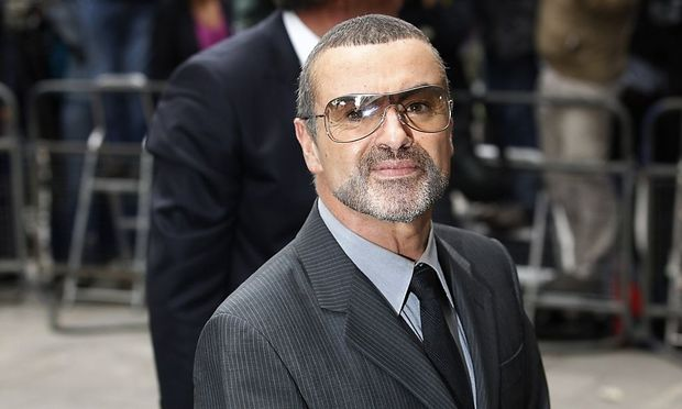British singer George Michael arrives at Highbury Magistrates Court in London