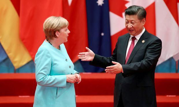 Merkel fordert von China Marktzugang für deutsche Unternehmen