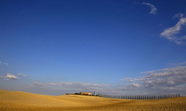A view of fields in the world famous Crete Senesi area near Asciano