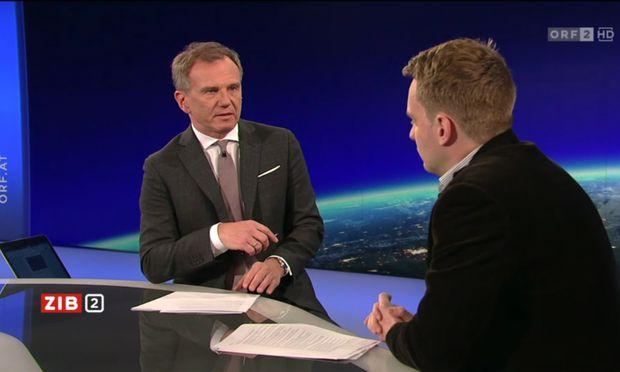 Zum Interview im Studio kam Völkerrechtsexperte Ralph Janik, der sozusagen den Standpunkt in der Mitte einnahm.