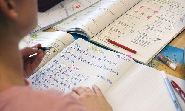 Schülerin in einer NMS (Symbolbild)