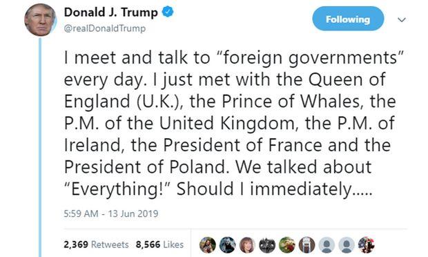 Donald Trump bezeichnet Prinz Charles als