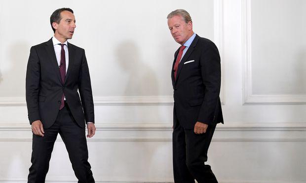 Sagten die Verhandlungen am Mittwoch ab: Kanzler Kern (l.) und Vizekanzler Mitterlehner.