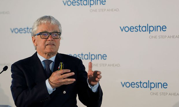 FILE PHOTO: Voestalpine CEO Eder attends a news conference in Vienna