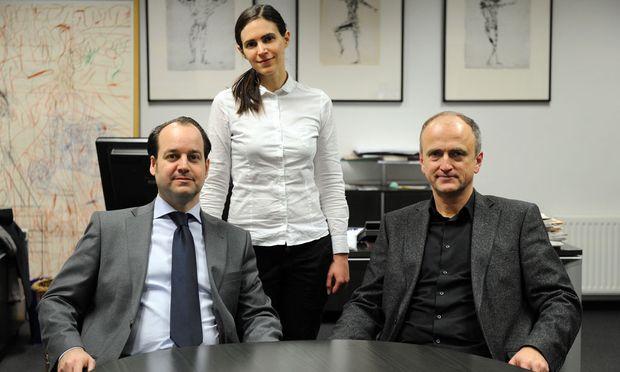 v.l.n.r. Oliver Pink, Ulrike Weiser, Dietmar Neuwirth