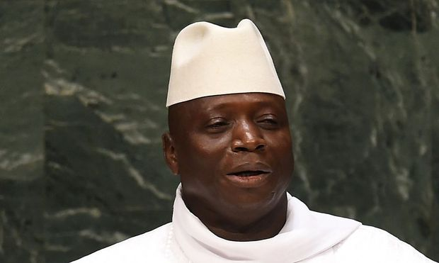 Gambias Präsident Yahya Jammeh auf einem Archivbild