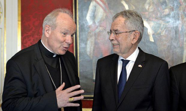 Kardinal Christoph Schönborn und Bundespräsident Alexander Van der Bellen.