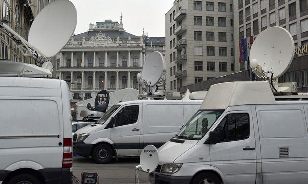 Rund 500 Journalisten aus der ganzen Welt kamen nach Wien, um über die Atomgespräche im Palais Coburg zu berichten.
