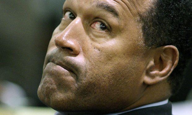 Angeklagter O J Simpson während eines Gerichtstermins in Las Vegas PUBLICATIONxINxGERxSUIxAUTxHUN