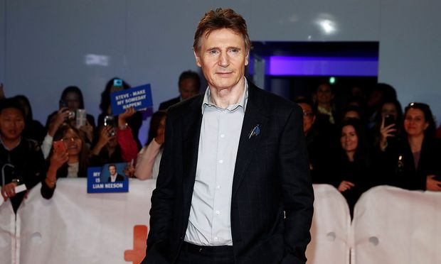 Actor Liam Neeson arrives for the world premiere of Widows at the Toronto International Film Festival in Toronto