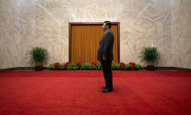 File photo of China´s President Xi waiting to greet Cuba´s First Vice President of the Council of State Diaz-Canel in Beijing