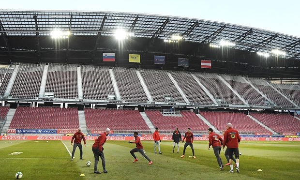 ÖFB-Training im Klagenfurter Stadion