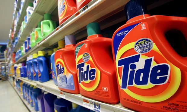 Die Waschmittelpackungen werden kleiner