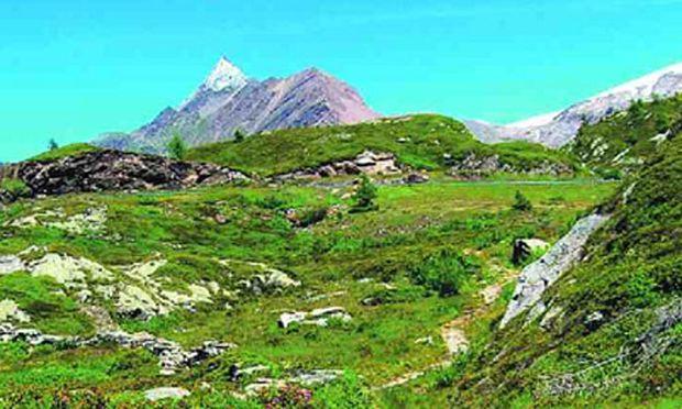 Schweiz landschaftlichen Rahm abschoepfen