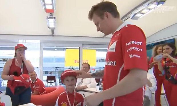 Kimi Räikkönen mit Thomas