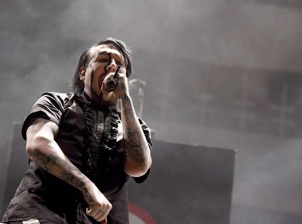 Nicht beeindruckend: Marilyn Manson.