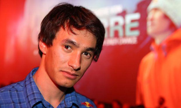 David Lama 2014 bei der Premiere des Films über seine Begehung des Cerro Torre