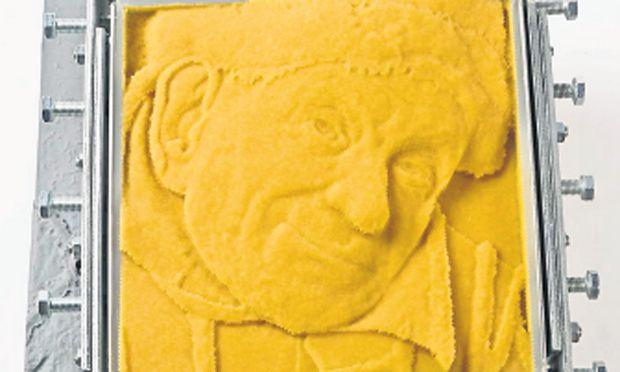 """Das 3-D-Modell des """"Bildnis des ferraresischen Hofnarren Gonella"""" ist bereits im KHM Wien zu betasten."""