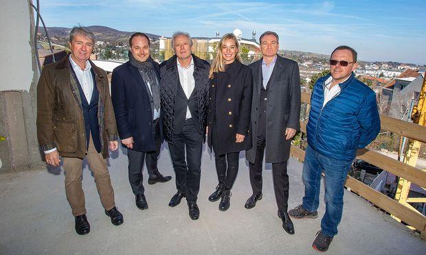 v.l.n.r.: Michael Exenberger, Daniel Resch, Hubert Niedermayer, Barbara Schett, Heinz Fletzberger, Andreas Steindl.