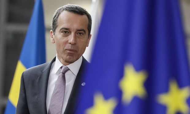 Austrian Federal Chancellor Christian Kern arrives on day two an EU summit meeting Friday 23 June 2
