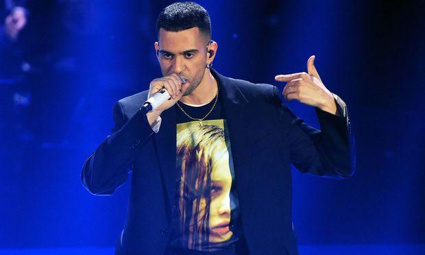 Der Sänger Mahmood.
