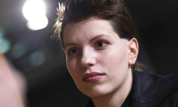 Schauspielerin und S�ngerin Anja Plaschg beim RadioEins Berlinale Nighttalk am Rande der 66 Interna