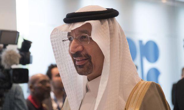 """Energieminister Chalid al-Falih den zweiten Weg an. """"In Saudi-Arabien legen wir viel Wert auf die Energie-Effizienz"""""""