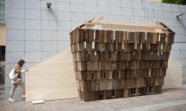 Sichtwechsel. Liegen im Stadtraum, und das noch dazu oben: Die Idee hatte Wolfgang Pichler Design.