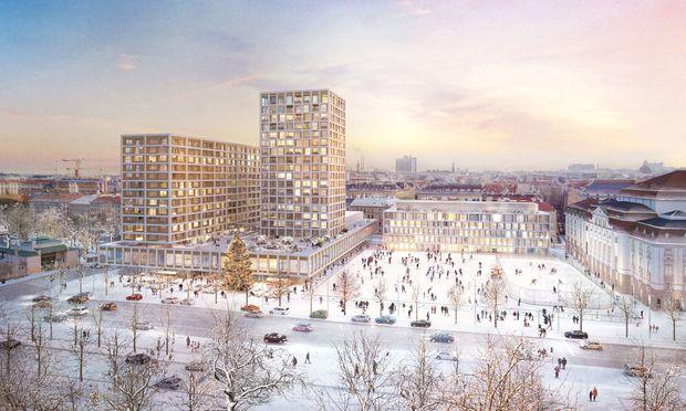 Anlass des Besuchs: die geplante Neugestaltung am Heumarkt.