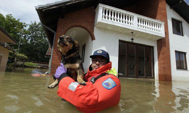 Hochwasser, Serbien, Balkan