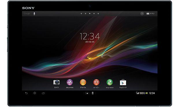 Xperia Tablet Sony setzt