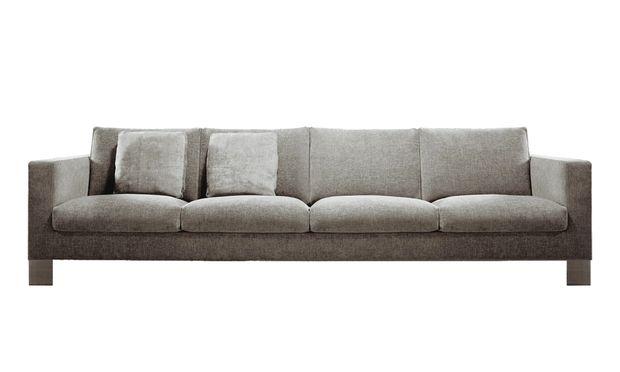 """Minotti. """"Pollock"""" hob Ende der 1990er-Jahre die Sofa-Ästhetik auf Metallfüße."""
